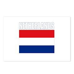 Netherlands Flag (Dark) Postcards (Package of 8)