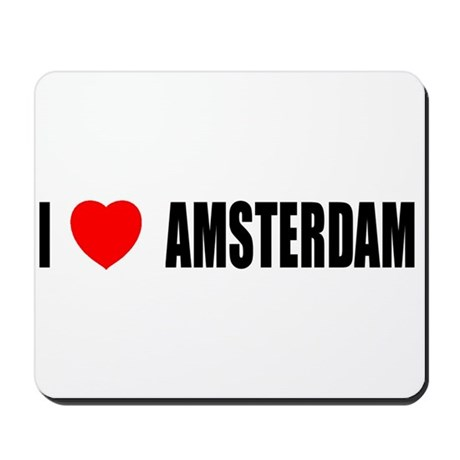 I Love Amsterdam, Netherlands Mousepad