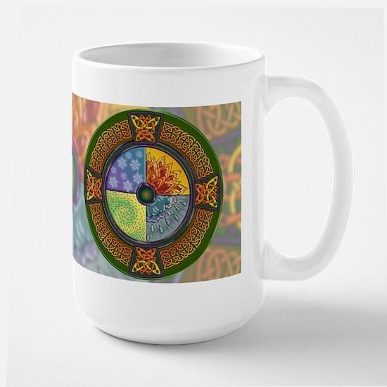 Celtic Elements (color bg) Large Mug
