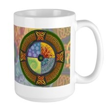 Celtic Elements (color bg) Mug