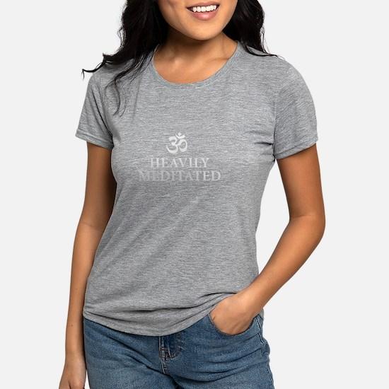 Heavily Meditated - yoga humor T-Shirt