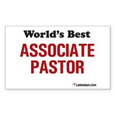 World's Best Associate Pastor Sticker (Rectangular
