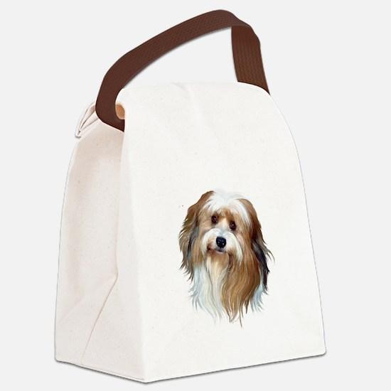 Tibetan Spaniel (brn-W) Canvas Lunch Bag