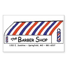 Barber Shop Rectangle Decal