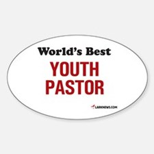 World's Best Youth Pastor Oval Decal