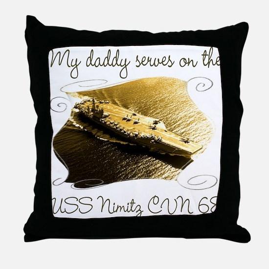 Unique Uss nimitz Throw Pillow
