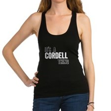 Its A Cordell Thing Racerback Tank Top