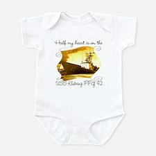 Cute Uss maryland Infant Bodysuit
