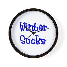 Winter Sucks Wall Clock
