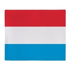 Flag Of Luxembourg Throw Blanket
