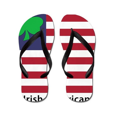 Irish American Flag Flip Flops