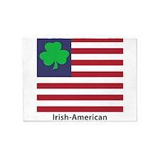 Irish American Flag 5'x7'Area Rug
