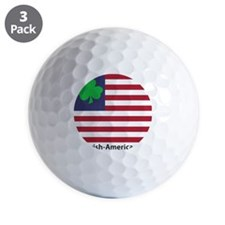 Irish American Flag Golf Ball