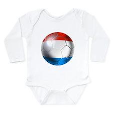 Luxembourg Football Long Sleeve Infant Bodysuit