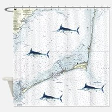 Marlin Chart Hatteras Shower Curtain