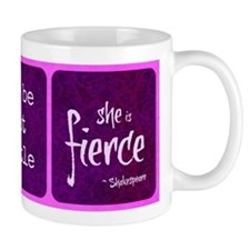 And though she be but little she is fierce Mugs