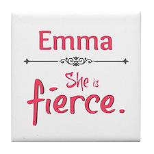 Emma is Fierce Tile Coaster