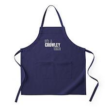 Its A Crowley Thing Apron (dark)