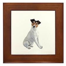 Jack Russell T (B) Framed Tile