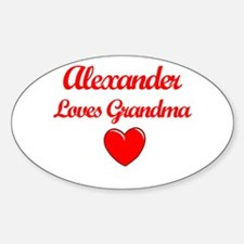 Alexander Loves Grandma Oval Decal