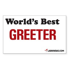 World's Best Greeter Rectangle Decal