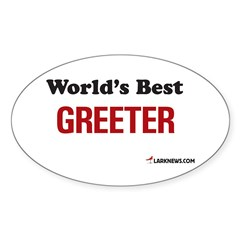 World's Best Greeter Oval Decal