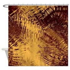 Maroon And Gold Shower Curtains