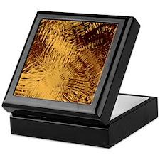 Dark Red And Gold Glass Keepsake Box