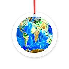 World Soccer Ball Ornament (Round)