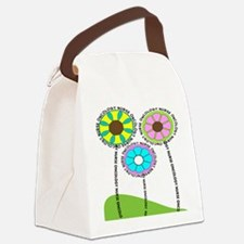 ONCOLOGY NURSE FLOWERS 2 Canvas Lunch Bag