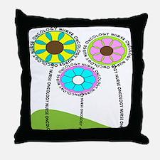 ONCOLOGY NURSE FLOWERS 2 Throw Pillow