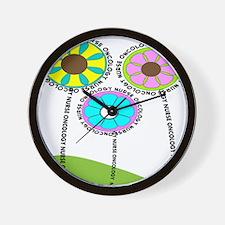 ONCOLOGY NURSE FLOWERS 2 Wall Clock