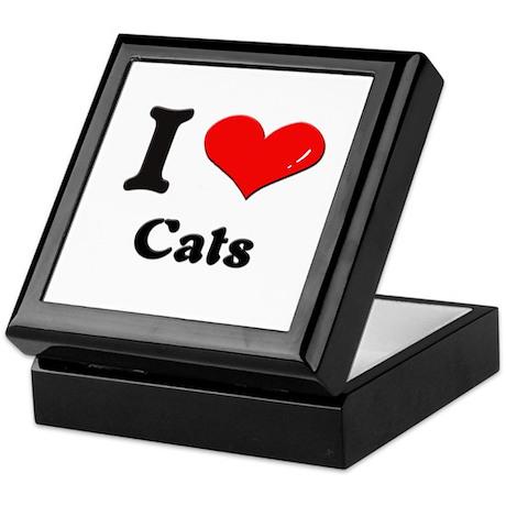 I love cats Keepsake Box