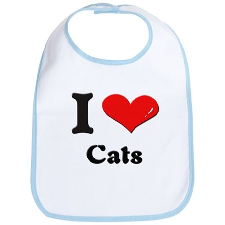 I love cats Bib