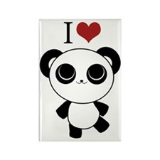 I love panda Rectangle Magnet