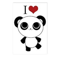 I love panda Postcards (Package of 8)