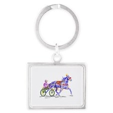 Silks and Road dust Landscape Keychain