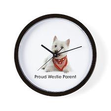 Proud Westie Parent Wall Clock