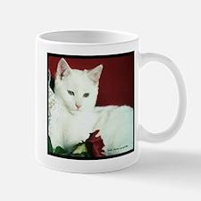 White Cat and Rose Mugs