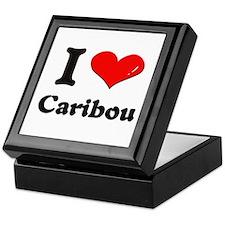 I love caribou Keepsake Box