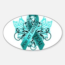 Funny Teal ribbon Decal
