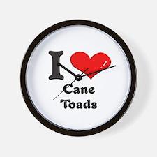 I love cane toads  Wall Clock