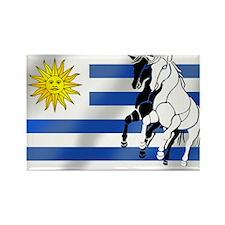 Uruguay Stallion Rectangle Magnet (10 pack)