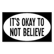 believeoval Bumper Stickers