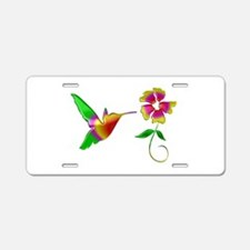 Colorful Hummingbird Aluminum License Plate