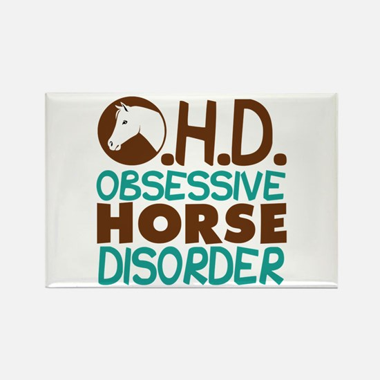 Funny Horse Rectangle Magnet