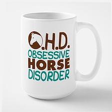 Funny Horse Large Mug