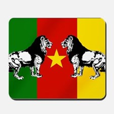 Cameroon Lions Flag Mousepad