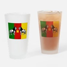 Cameroon Lions Flag Drinking Glass