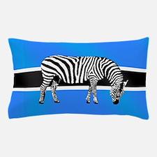 Botswana Zebra Flag Pillow Case